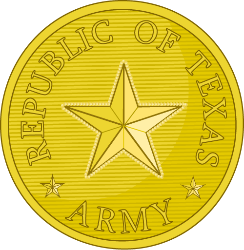 Republic of Texas Army Button
