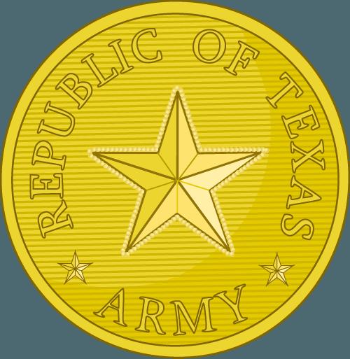 Republic of Texas Army Button