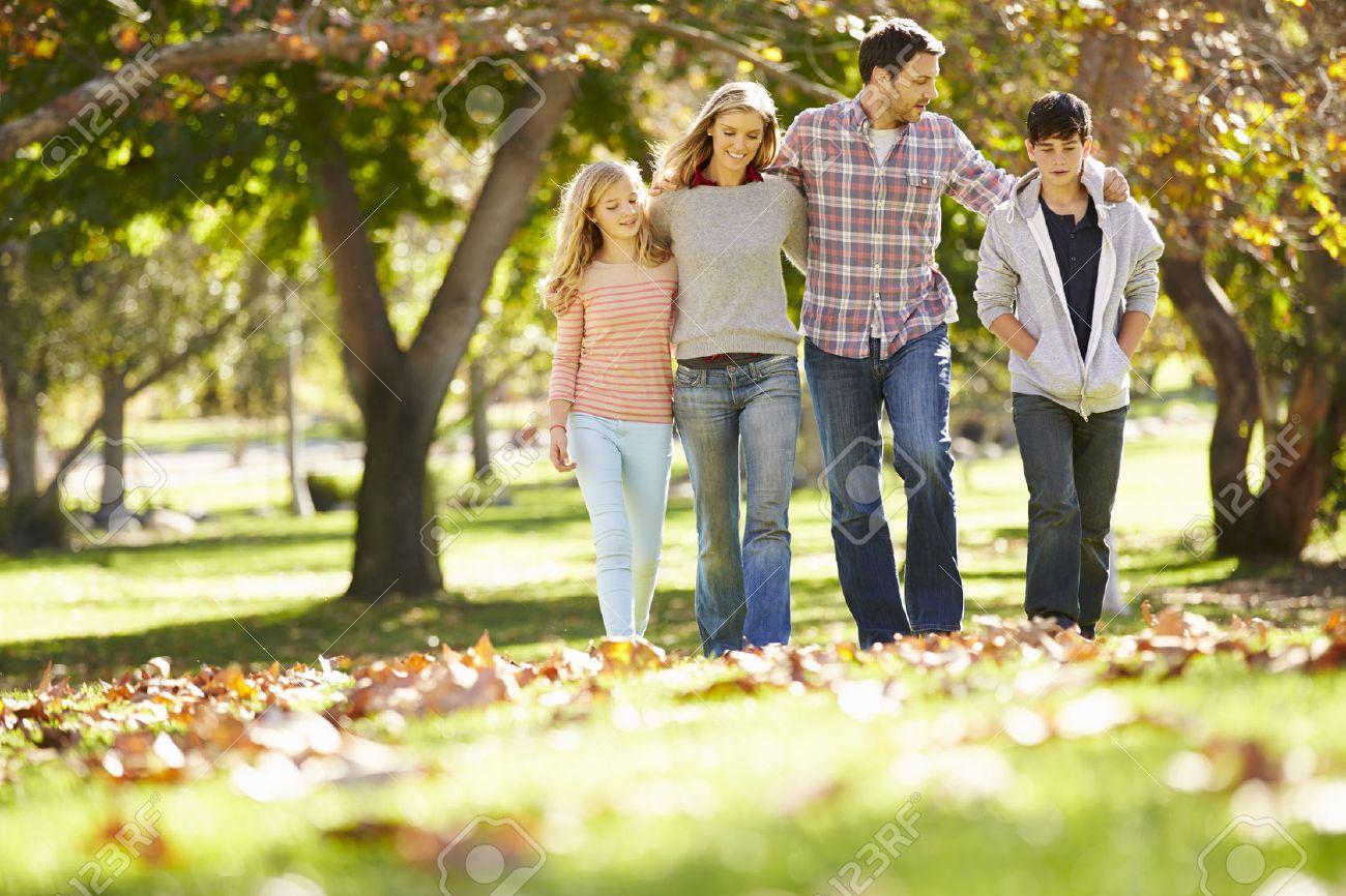 Family walking home in Van Alstyne country
