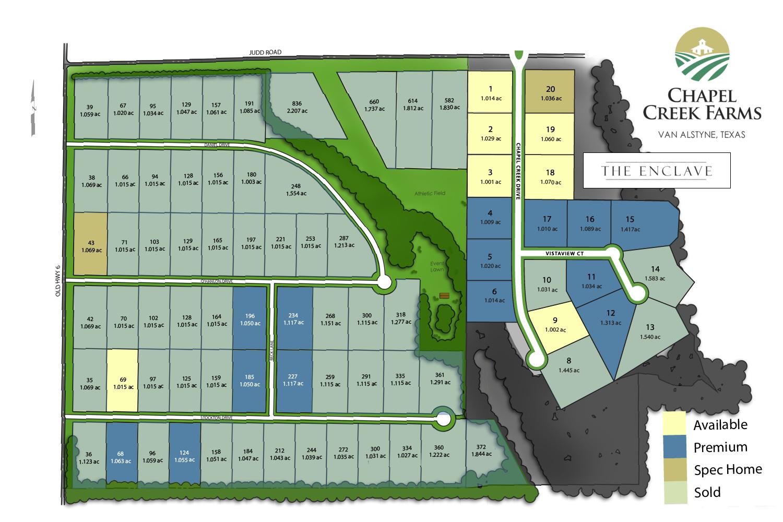 Chapel Creek Farms lot map